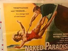 New listing Naked Paradise 22X28 HS Poster AIP Corman Arkoff Garland Haze Denning Sex Drama