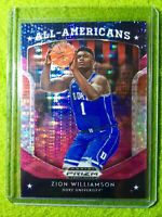 ZION WILLIAMSON PINK PRIZM REFRACTOR ROOKIE CARD JERSEY #1 DUKE RC 2019 PELICANS