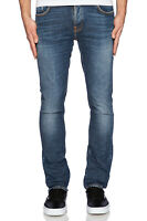 Nudie Herren Slim Fit Bio Denim Stretch Jeans Hose | Grim Tim Foggy Dust
