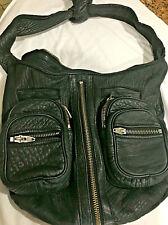 Alexander Wang Donna Black Leather Shoulder Bag Boho Hobo