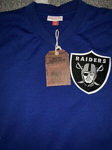 NWT Sold Out Oakland Raiders Mitchell & Ness Winning Team Mesh Jersey Shirt SZ L