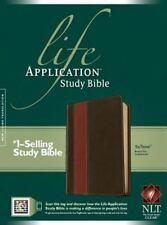 Life Application Study Bible NLT Brown/Tan TuTone LeatherLike. Brand New.