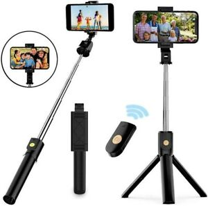 TRIPOD SELFIE STICK EXTENDABLE WIRELESS REMOTE STAND FOR IPHONE ANDROID