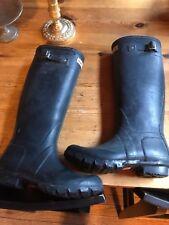 HUNTER Original Tall Knee High Green Matte Rain Boots Size US 5M/6F UK4