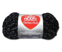 Red Heart Reflective Yarn Black E820-8012 Bulky Coats & Clark Skein Scarf & Hat