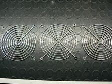 3 GRIGLIE DI PROTEZIONE PER VENTOLA 11,5 CM in metallo cromato  computer case