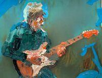 Abstract Portrait Eric Johnson Guitarist Guitar Wall Art Original Painting 11x14