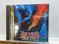 Sega Saturn In The Hunt Submarine War KAITEI DAISENSOU USED Japan Import SS Game