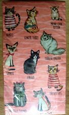 Paper Napkins MEOW Cat Guest Towels Buffet 20 Count 15-2/3 x 11-2/3 Inches New
