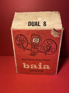 VINTAGE * BAIA EDIVIEWER DUAL 8 MARK II 2 SUPER 8 REGULAR 8MM FILM EDITOR w/ Box