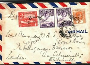 ANTIGUA LEEWARDS Cover COLD WAR ESPIONAGE 1947 GB NAVAL INTELLIGENCE *NID* MC230