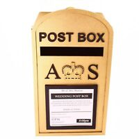 Large Post Box, Royal Mail Design, Gold or Silver MDF, for Wedding Cards etc.