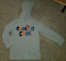 GYMBOREE Gray Hooded CREEP IT COOL Long Sleeved Top Boys Size 4T