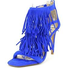 Sandali e scarpe di camoscio blu per il mare da donna