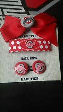 Ohio State Buckeyes Hair Barrettes and Tie.  New In Package