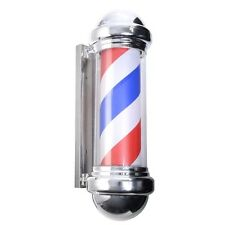 "28"" Barber Shop Pole Red White Bule Rotating LED Light Sign Hair Salon"