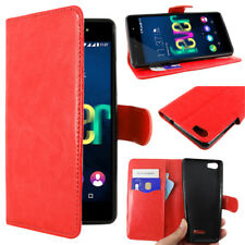 Ebeststar pour Wiko Fever SE Special Edition - Housse Portefeuille couleur Rouge