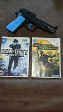 New listing Nintendo Wii Game Bundle ghost squad, call of duty world at war and gun