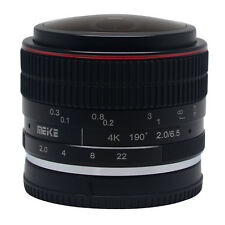 Meike 6.5mm F2.0 Fisheye Lens Manual Focus Lens for Canon EF-M Mount Lens Camera
