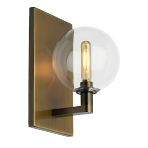 Tech Lighting Gambit Single Wall, Clear/Aged Brass LED927 - 700WSGMBSCR-LED927
