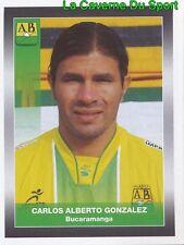 031 CARLOS GONZALEZ CA.BUCARAMANGA Lleida STICKER PANINI COLOMBIA PRIMERA 2008