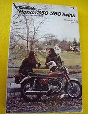 Vintage Honda SL350 CL350 CB350 CB360 CL360 Chilton's Repair Manual 1968-1975
