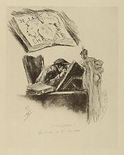 Félicien Rops: Akt und Gelehrter, um 1905