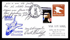 1982 LAUNCH OF COLUMBIA STS-4 - MERRITT ISLAND TRACKING - SIGNED (E#2700)