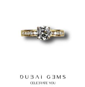 9ct Gelbgold Solitär Cut Schulter Set erstellt Diamant Ring Größen J-T