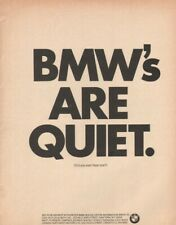 1965 BMW's Are Quiet - Did you ever hear one? - Vintage Motorcycle Ad