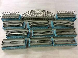 Top Marklin 7163 Arched Girder Bridge - Set  M -Tracks for H0 Train Layout