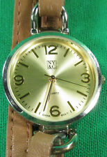 NY & Co New York & Co Ladies Brown Multi Strap Silver Tone Analog Quartz Watch