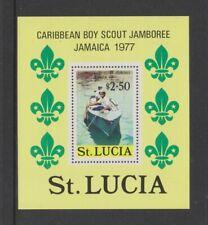 St Lucia - 1977, Boy Scouts sheet - MNH - SG MS455