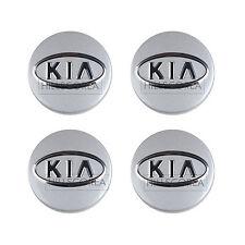 Genuine OEM KIA Logo Wheel Center Caps Fits KIA Vehicle 4Pcs 1Set