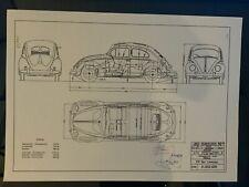 Design Drawing VW Brezel Käfer ... Beetle Split .