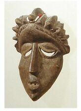 Postcard Africa Liberia Bassa People Personal Mask Brooklyn Art Museum MINT
