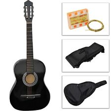 Beginners Acoustic Guitar w/Guitar Case, Strap, Tuner & Pick Steel Strings Black