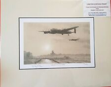 Limited Edition Aviation Print Lancasters Over Lincolnshire by Stephen Brown
