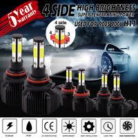 4-Sides 9005 9006 H11 LED Combo Headlight Fog Light KIt High Low Beam Bulb White