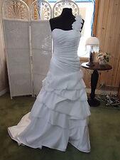 548 MOONLIGHT J6212W SZ 14 ONE SHOULDER WEDDING BRIDAL GOWN DRESS