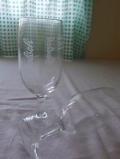 Pair Genuine Dutch Classic Grolsh Stemmed Glasses 25cl Half Pint