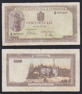 Romania 500 lei 1942 MB+/F+  C-05