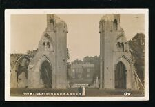 Somerset GLASTONBURY Abbey Ruins c1900/10s? RP PPC Bath Electric Tramways Ltd