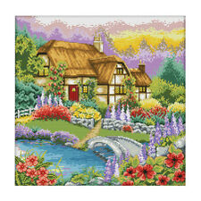 1 Set Embroidery Starter Kits Stamped Cross Stitch Kits Beginners for DIY