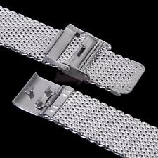 22MM Stainless Steel Shark Mesh Watch Band Strap Bracelet Replacement