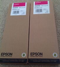 (2) Epson Genuine 220ml T5443 Magenta. Brand New! NIB. Lot Of 2. Stylus Pro