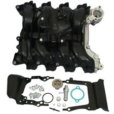 New Upper Engine Intake Manifold W/Thermostat & Gaskets Kit For Ford E-150 E-250
