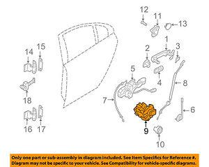 VOLVO OEM 08-16 XC70 Rear Door-Lock Actuator Motor 31253919