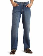 Lee Mens Jeans Deep Blue US Size 44X34 Low-Rise Straight Leg Stretch $48- 879