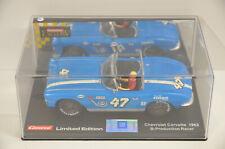 5 ) Carrera 20490 Exclusiv Chevrolet Corvette 1962 Limited Edition in OVP